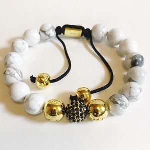 Jewelry - Amazing New Hand Crafted Marble Gold Bracelet